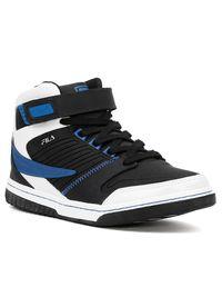 Tenis-Casual-Masculino-Fila-Cano-Alto-Bronx-Preto-Branco-Azul