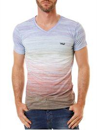 Camiseta-Manga-Curta-Masculina-Tribal-Multicolorida-Lilas