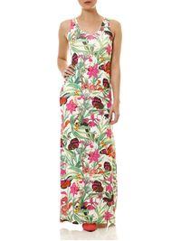 Vestido-Longo-Feminino-Floral-Verde-Rosa