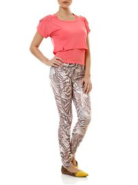 Calca-Jeans-Feminina-Animal-Print-Marrom