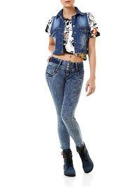 Colete-Feminino-Jeans-Spikes-Azul