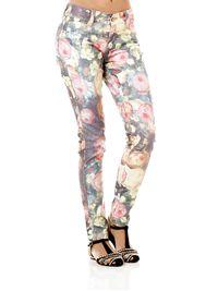 Calca-Jeans-Sarja-Feminina-Floral-Roxo