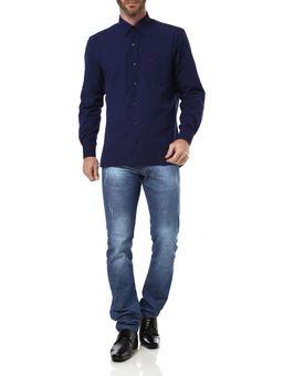 Camisa-Manga-Longa-Masculina-Azul-Marinho