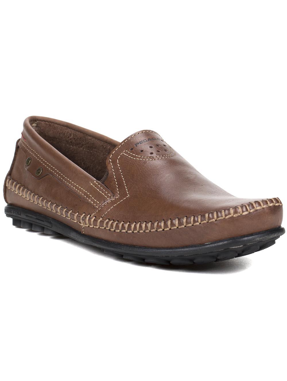 98be4019f8 Sapato Mocassim Masculino Pegada Marrom escuro - Lojas Pompeia
