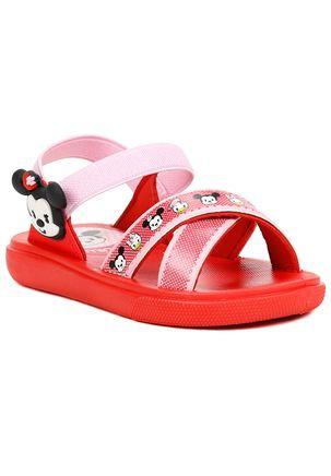 Sandalia-Infantil-Mickey-e-Minnie---Vermelha---Brinde