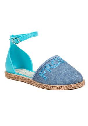 Sandalia-Infantil-para-Menina-Frozen-Encantada---Azul-Jeans