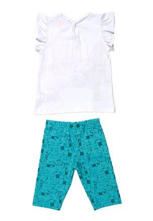 Conjunto-Infantil-para-Bebe-Menina---Branco-Verde