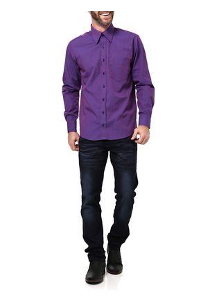 Camisa-Manga-Longa-Masculina-Di-Marcus-Roxa
