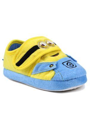 Pantufa-Infantil-para-Menina-Meu-Malvado-Favorito-Minions---Azul-Amarela