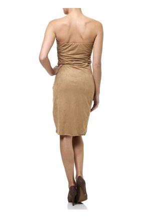 Vestido-Curto-Feminino-Autentique-Caramelo