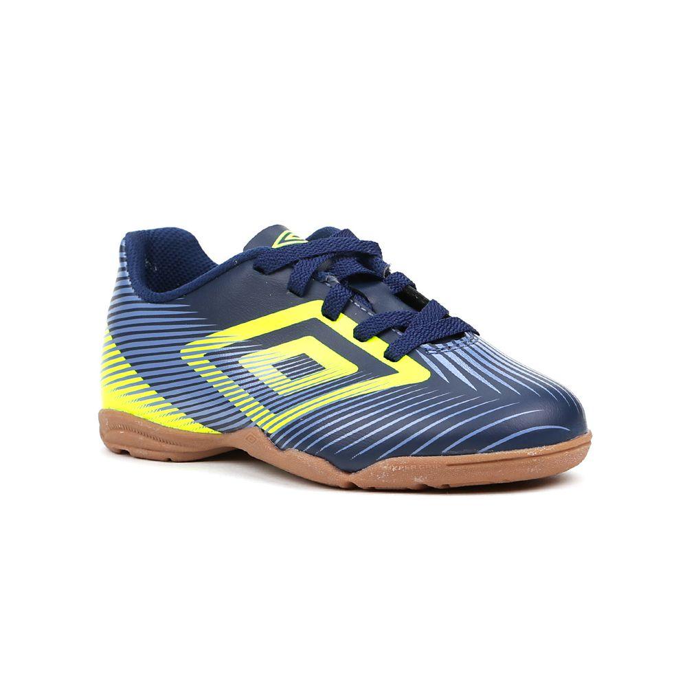 66e4684fd6 Tênis de Futsal Infantil Para Menino Umbro Speed Ii Jr Azul marinho ...