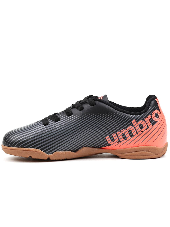 83a49aa497 Tênis de Futsal Infantil Para Menino Umbro Speed Ii Jr Preto coral ...