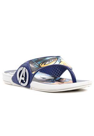Chinelo-Infantil-Masculino-Avengers-Heroes-Cinza-Azul-