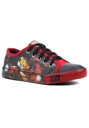 Tenis-Infantil-para-Menino-Marvel-Homem-de-Ferro-Vermelho