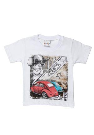 Camiseta-Manga-Curta-Infantil-para-Bebe-Menino---Branco