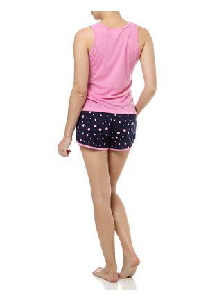 Pijama-Curto-Feminino-Rosa-Azul-Marinho