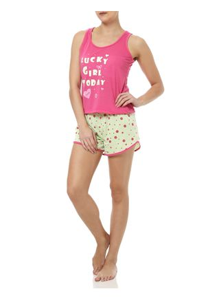 Pijama-Curto-Feminino-Rosa-Verde