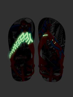 Sandalia-para-Bebe-Menino---Homem-Aranha-Preto-Vermelho