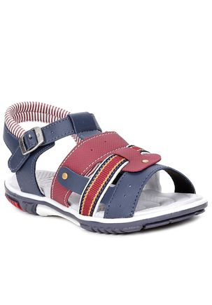 Sandalia-Infantil-para-Bebe-Menino---Azul-Marinho-Vermelho