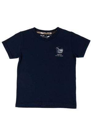 Camiseta-Manga-Curta-Infantil-Para-Menino---Azul-marinho