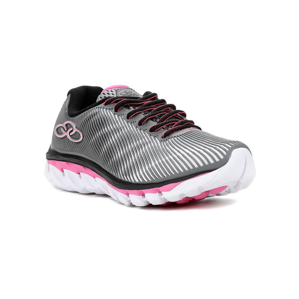 Tênis Esportivo Feminino Olympikus Perfect Cinza rosa - Lojas Pompeia 335f1c5f015c8