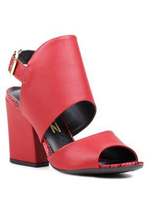 Sandalia-de-Salto-Feminina-Open-Boot-Vermelho