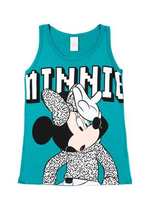 Blusa-Regata-Juvenil-Para-Menina-Disney---Verde