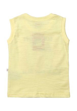 Camiseta-Regata-Infantil-Para-Bebe-Menino---Amarelo