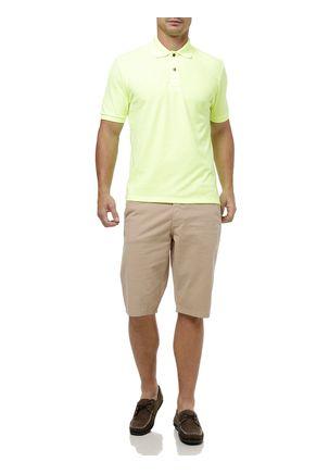 Polo-Manga-Curta-Masculina-Amarelo