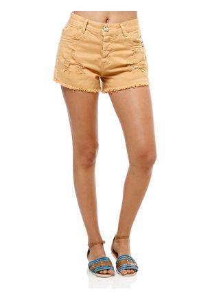 Short-Jeans-Feminino-Sawary-Caramelo