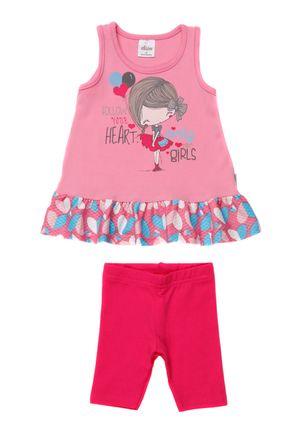 Conjunto-Infantil-Para-Bebe-Menina---Rosa-Pink