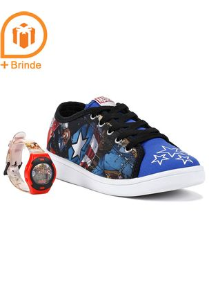Tenis-Infantil-Para-Menino-Marvel---Brinde---Azul