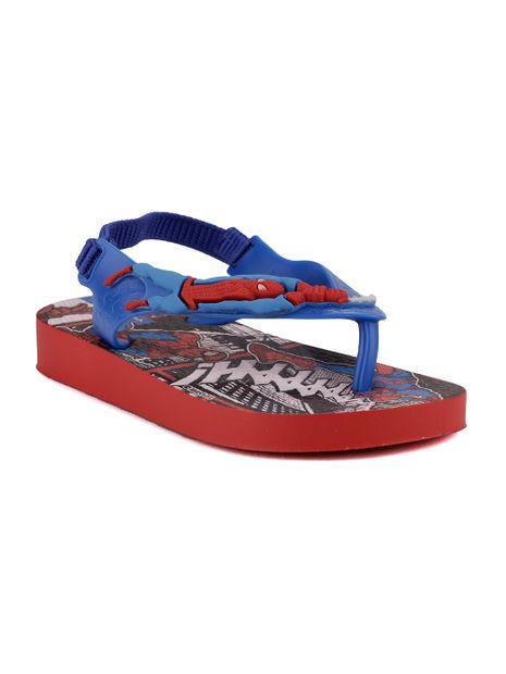 Sandalia-Para-Bebe-Menino---Homem-Aranha-Vermelho-azul