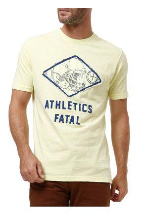 Camiseta-Manga-Curta-Masculina-Fatal-Amarelo