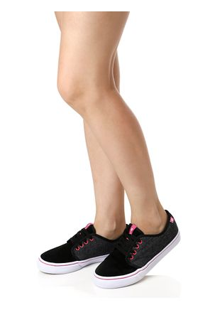 Tenis-Casual-Feminino-Freeday-New-For-Star-Preto-cinza