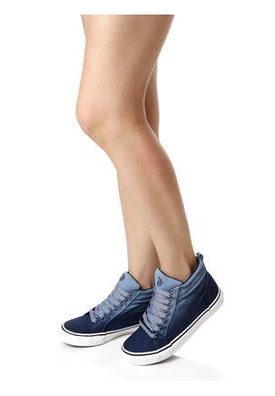 Tenis-Casual-Feminino-Capricho-Cano-Alto-Break-Azul