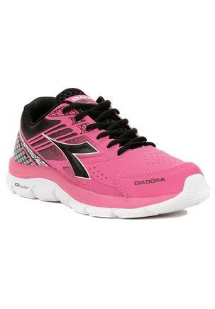 Tenis-Esportivo-Feminino-Diadora-Rosa-preto