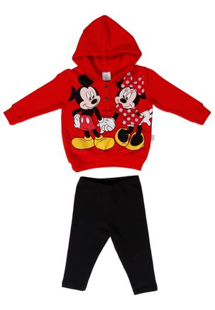 Conjunto-Infantil-Disney-Baby-Para-Bebe-Menina---Vermelho