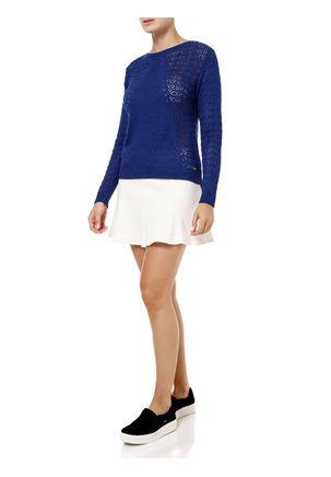 Blusa-de-Tricot-Feminina-Azul