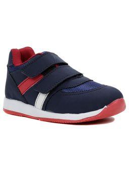 Tenis-Infantil-Para-Bebe-Menino---Azul-marinho-vermelho