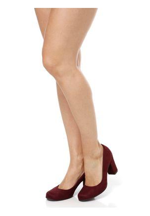 Sapato-de-Salto-Feminino-Bebece-Bordo