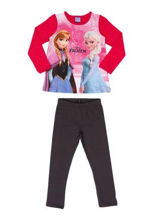 Conjunto-Frozen-Infantil-Para-Menina---Rosa-cinza