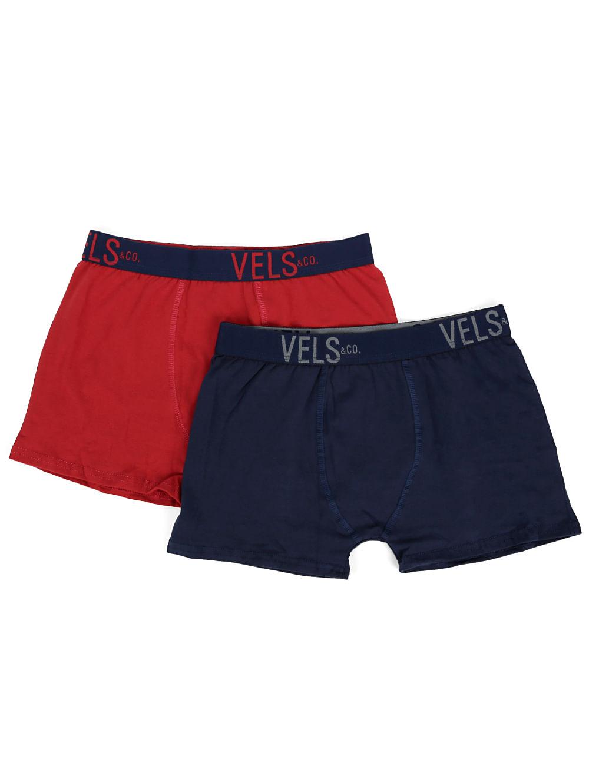 32de3521582452 Kit com 02 Cuecas Boxer Masculinas Vels Vermelho/Azul marinho