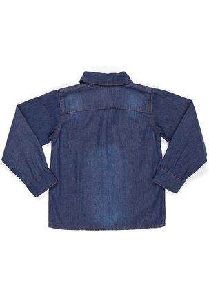 Camisa-Manga-Longa-Jeans-Infantil-para-Menino---Azul