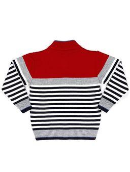 Jaqueta-Tricot-Infantil-Para-Menino---Cinza-vermelho
