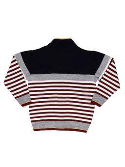 Jaqueta-Tricot-Infantil-Para-Menino---Azul-marinho-bordo