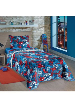 Edredom-Solteiro-Lepper-Spider-Man-Azul