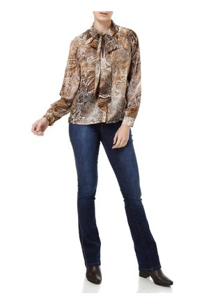 Camisa-Manga-Longa-Feminina-Marrom