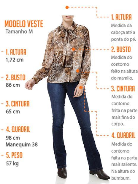aa735cf6a0dec Camisa Manga Longa Feminina Marrom - Lojas Pompeia