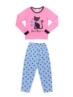 Pijama-Infantil-Para-Menina---Rosa-azul